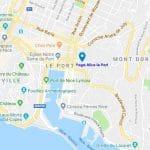Yoga Nice Cours Plan d'accès à la salle Yoga-Nice le Port