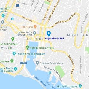 Plan d'accès à la salle Yoga-Nice le Port