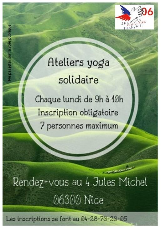 Yoga solidaire au Secours populaire