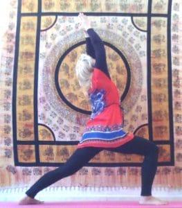 Hatha yoga : posture du guerrier I - Virabhadrasana I
