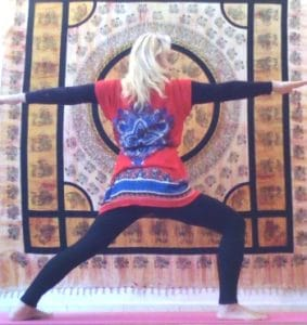 Hatha yoga : posture du guerrier II - Virabhadrasana II