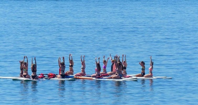 Paddle Yoga à la mer