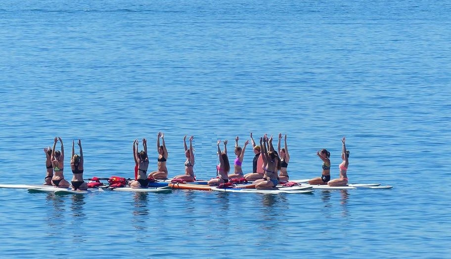 Paddle Yoga en mer