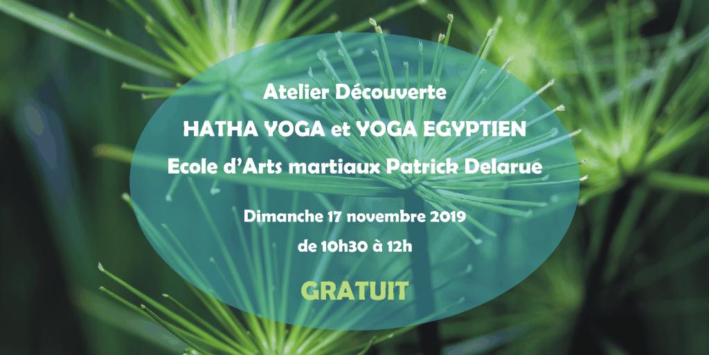 Atelier Découverte Hatha yoga et Yoga égyptien