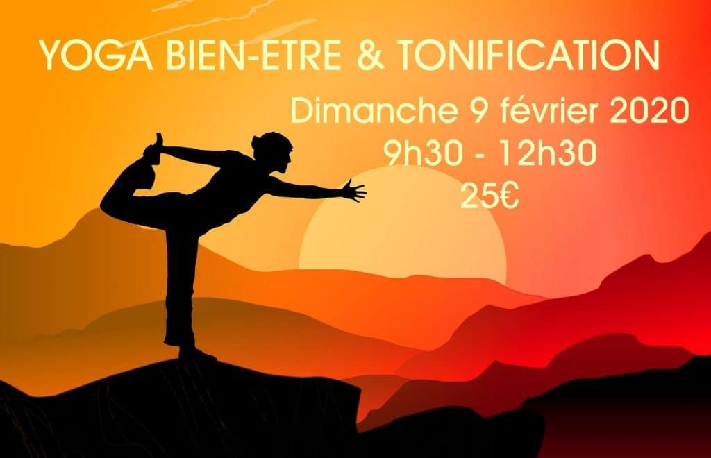 Matinée de Yoga Bien-être et Tonification dimanche 9 février 2020 au Studio Yoga-Nice le Port