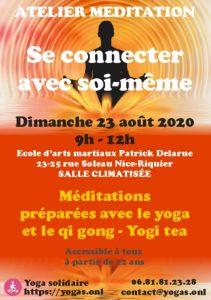 Atelier de méditation été 2020 : Se connecter à soi-même