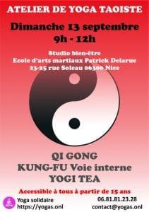 Atelier de Yoga taoïste à Nice Dimanche 13 septembre 2020