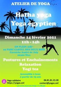 Yoga en plein air Dimanche 14/2/21 - Hatha yoga et Yoga égyptien