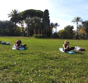 Yoga Plein air Nice - Parc du Castel des deux rois