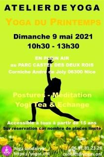 Yoga plein air Dimanche 9 mai 2021