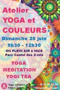 Atelier de yoga en plein air à Nice le 20/6/2021