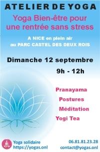 Yoga Nice Plein air : Atelier du 12 septembre 2021